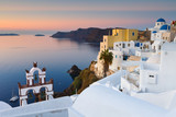 View of Oia village on Santorini island in Greece. - 126746825