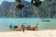 Quadro Loh samah bay at phiphi island, krabi Thailand.