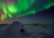 Northern Lights Above an Igloo