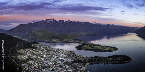 queenstown at dusk Poster