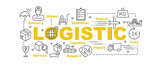 logistic vector banner