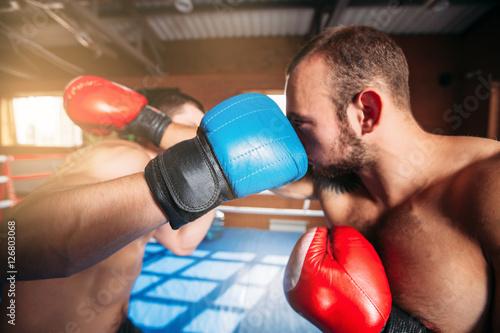 Poster Boxers strike blows.
