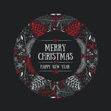 Round Frame Christmas Design