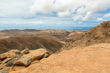 Beautiful volcanic mountains on  Fuerteventura. Canary Islands.