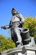 statue of Admiral Peter Tordenskjold in Oslo, Norway