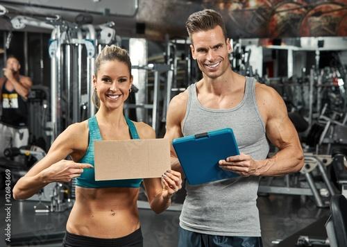 Couple in gym © Kurhan