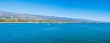 clear sky over Santa Barbara blue sea