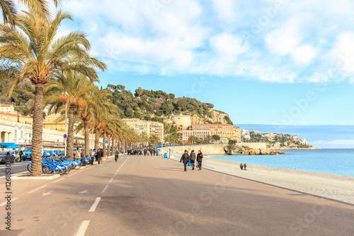 Fotobehang Nice View of the beach in Nice