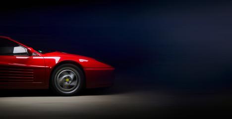 moderner roter Sportwagen, luxus Rennauto