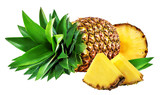 Fototapety pineapple isolated on white