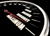 Maximum High More Best Results Speedometer 3d Illustration