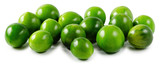green tomatoes on isolated white background