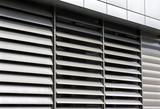 metallic  window shutter at the  office building - 126867202