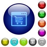 Webshop application color glass buttons