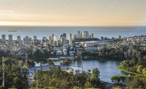 Fotobehang Nieuw Zeeland View of the city Valparaiso, Chile.
