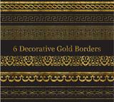 6 Decorative Gold Borders - 126874834