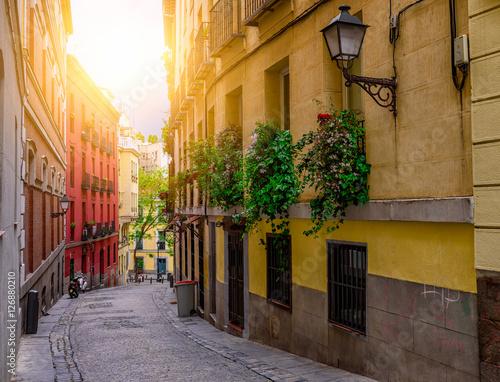 Old street in Madrid. Spain