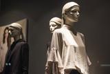 Clothes in a fashion boutique showcase