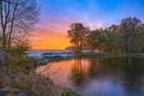 HDR Sonnenuntergng 7 / Sonnenuntergang über einem Teich bei Dannenberg (OT Nebenstedt), im Landkreis Lüchow-Dannenberg (Wendland, Niedersachsen). Aufgenommen am 13. November 2016. - 126881660