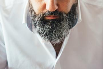 Close-up of bearded man