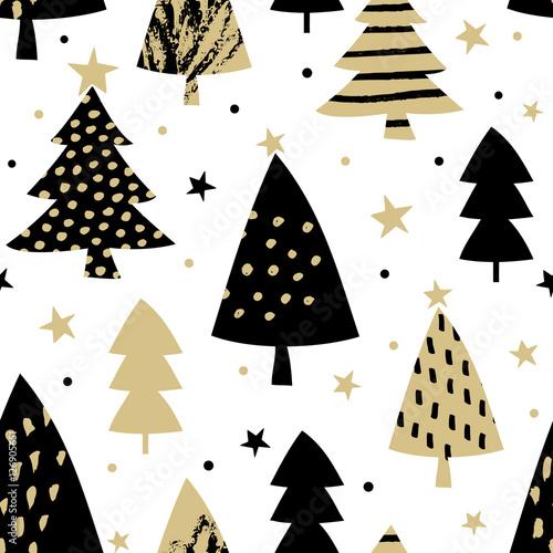 Cotton fabric Seamless Christmas Pattern