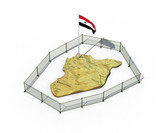 3d illustration of Syria map isolated on white
