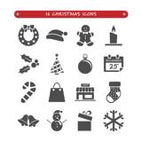 Grupo de 16 iconos de Navidad