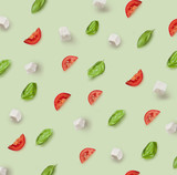 mozzarella, cherry tomatoes and basil pattern
