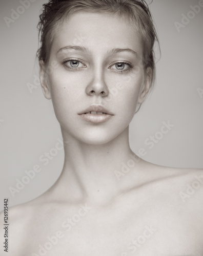 Plakát, Obraz Beauty portrait of a sensual woman with natural blonde hair.