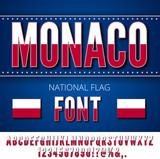 Monaco Flag Font