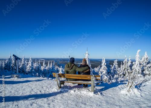 Poster romantischer Winterurlaub