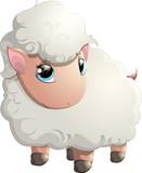 beautiful cheerful sheep