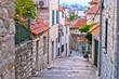 Old stone street of Split historic city
