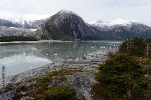 Fotobehang Antarctica Pia glacier on the archipelago of Tierra del Fuego.
