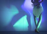 Legs of woman dancing salsa