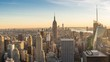 New York City skyline day to night time lapse