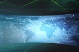 World map illustration in futuristic concept
