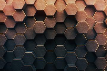 Abstract honeycomb background © peshkov