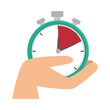 Постер, плакат: chronometer watch isolated icon vector illustration design
