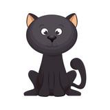cute cat mascot icon vector illustration design