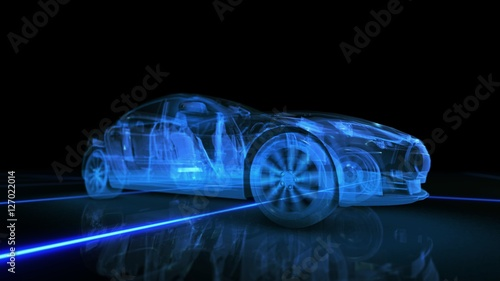 Abstract 3D Car Animation - 127022014