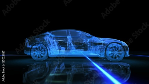 Abstract 3D Car Animation - 127022027