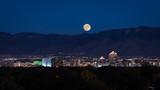 Supermoon Rising Over Albuquerque - Fine Art prints