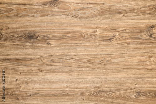 Wood Texture Background, Brown Grained Wooden Pattern Oak Timber - 127033431
