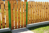Wooden Fence Door. Wood Fence Gates - Wood Fencing. - 127036295