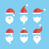 Santa Clauses vector set for christmas