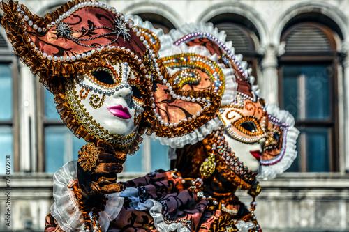 Maschera veneziana al Carnevale di Venezia Poster