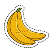 fresh fruit cut line isolated icon vector illustration design - 127082616