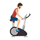 machine gym equipment icon vector illustration design