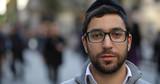 Jewish caucasian man in city smile face portrait - 127092890
